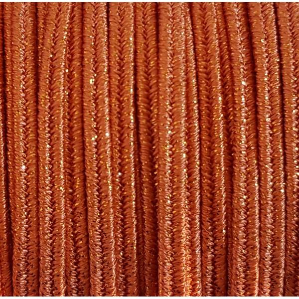 Soutache Metal ALL Black mm 4,0 x 3mt