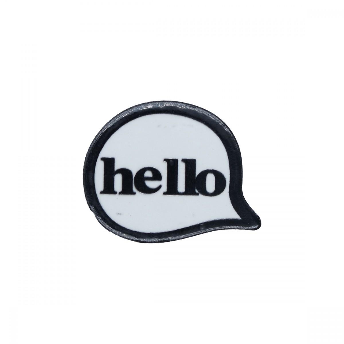 Etichetta Hello 30x24mm 2pezzi