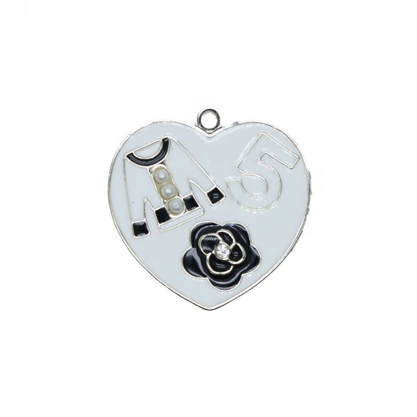 Charms Cuore Simboli Bianco 28mm