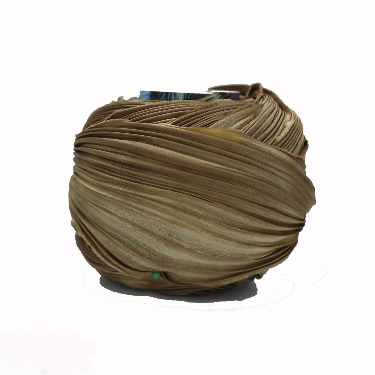 Seta Shibori Brown Vilk Gold x15cm