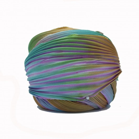 Shibori Silk Lavender Borealis x15cm
