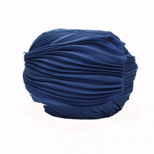 Shibori Silk Solid BLue x15cm