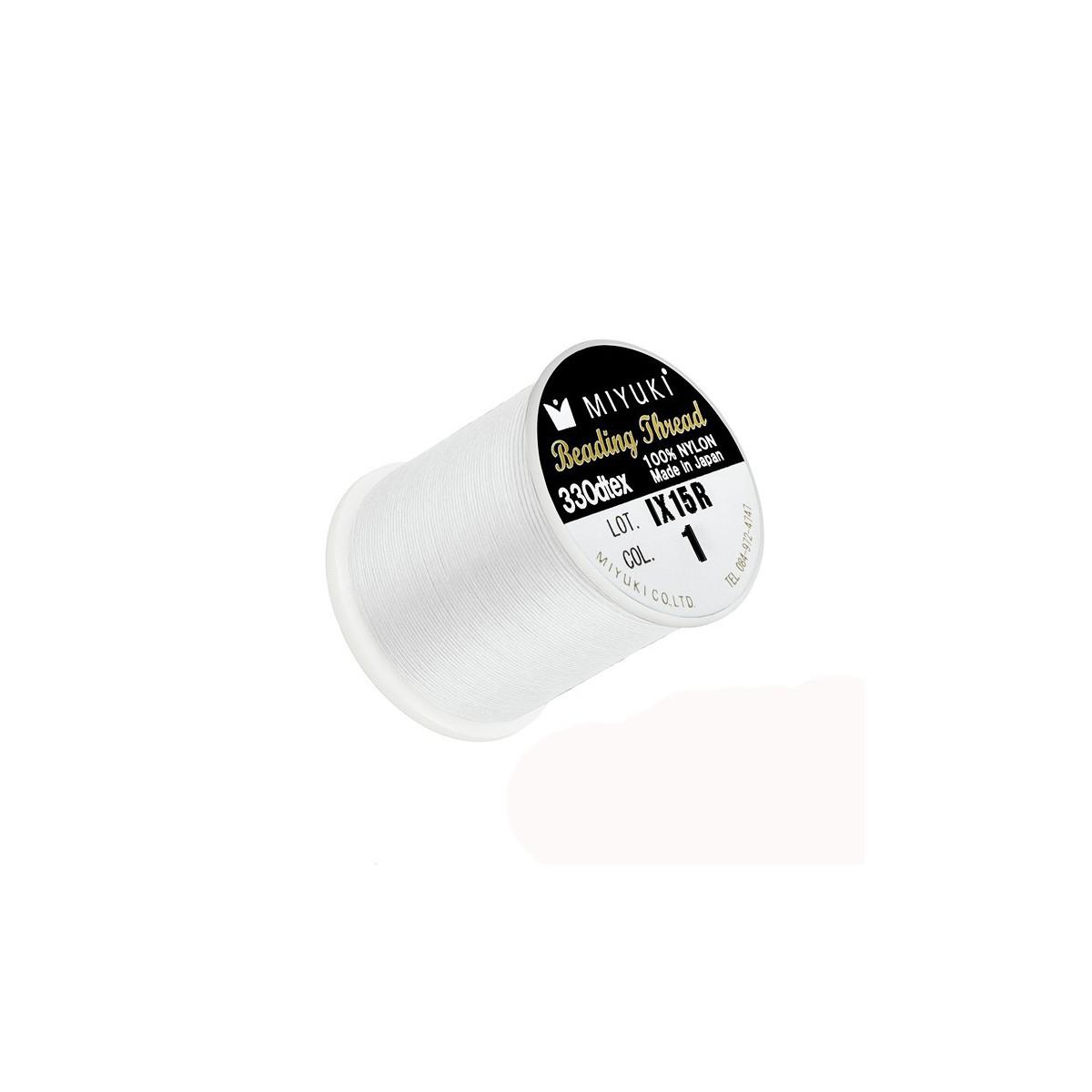 Filo Miyuki Bianco Col 1, 0.2mm,  50mt