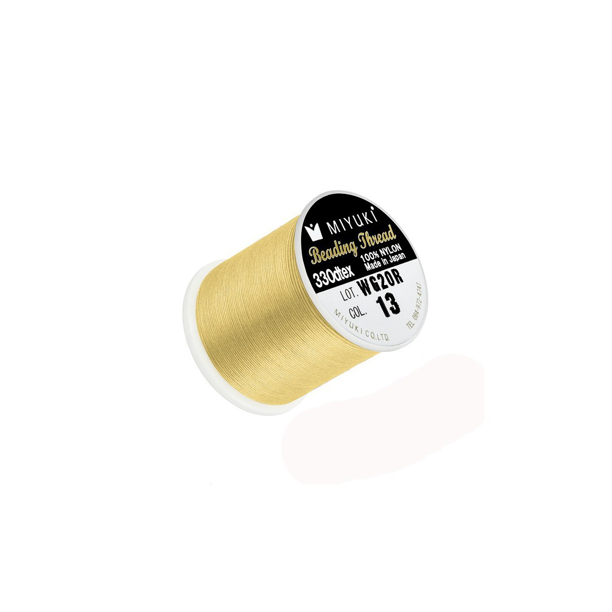Filo Miyuki Colore Giallo 13, 0.2mm,  50mt