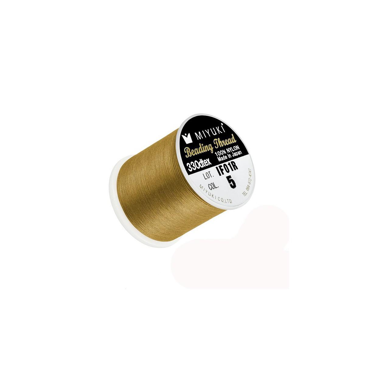 Filo Miyuki Colore Oro 5, 0.2mm,  50mt
