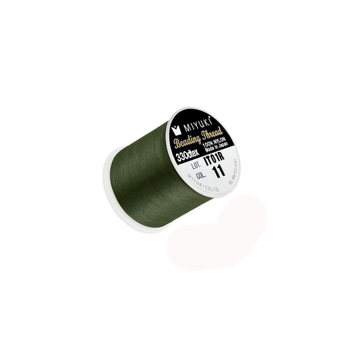 Filo Miyuki Colore Verde 11, 0.2mm,  50mt