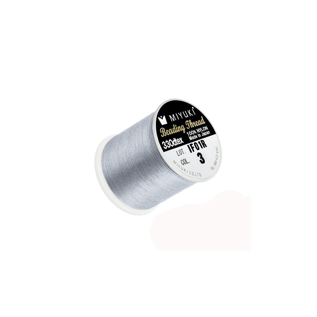 Filo Miyuki Grigio Col 3, 0.2mm,  50mt
