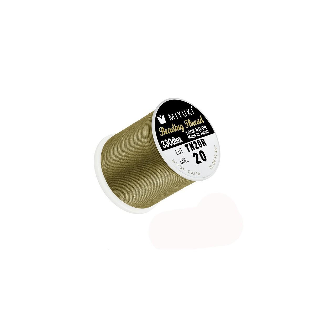 Filo Miyuki Verde Oro Antico Col 20 0.2mm,  50mt