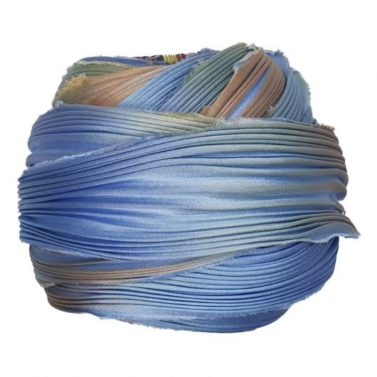 Seta Shibori BLUE BEACH GLASS x15cm