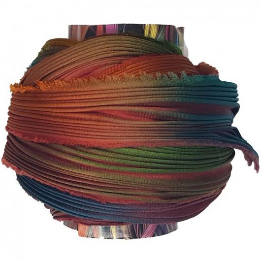 Shibori Silk  Feathers x15cm