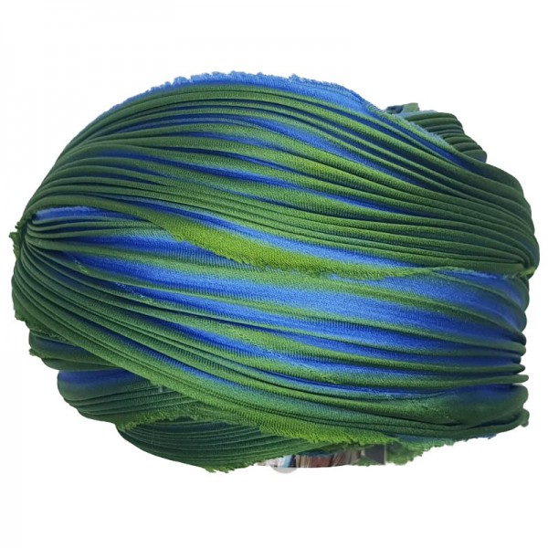 Shibori Silk Peacock  x15cm
