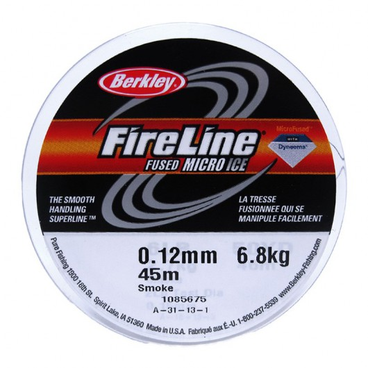 Filo Fireline Smoke Grey 0.15MM 46 Metri