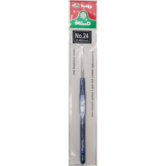Steel Crochet Hook Tulip 0.40mm - n°24