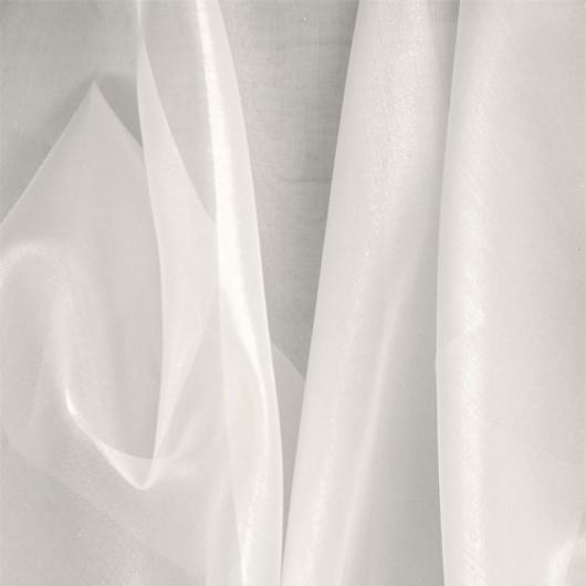 Organza di Seta Bianca 100x140cm 24g/mq