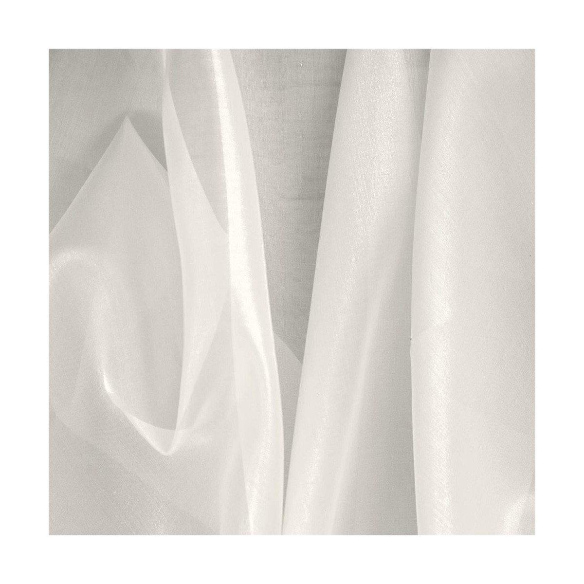 Organza di Seta Avorio 100x140cm 24g/mq