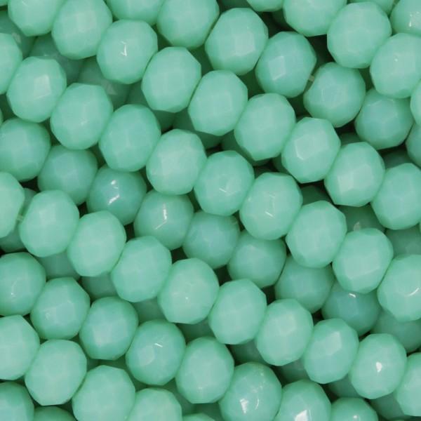 Rondelle in Cristallo Sfaccettato 4x3mm AQUA
