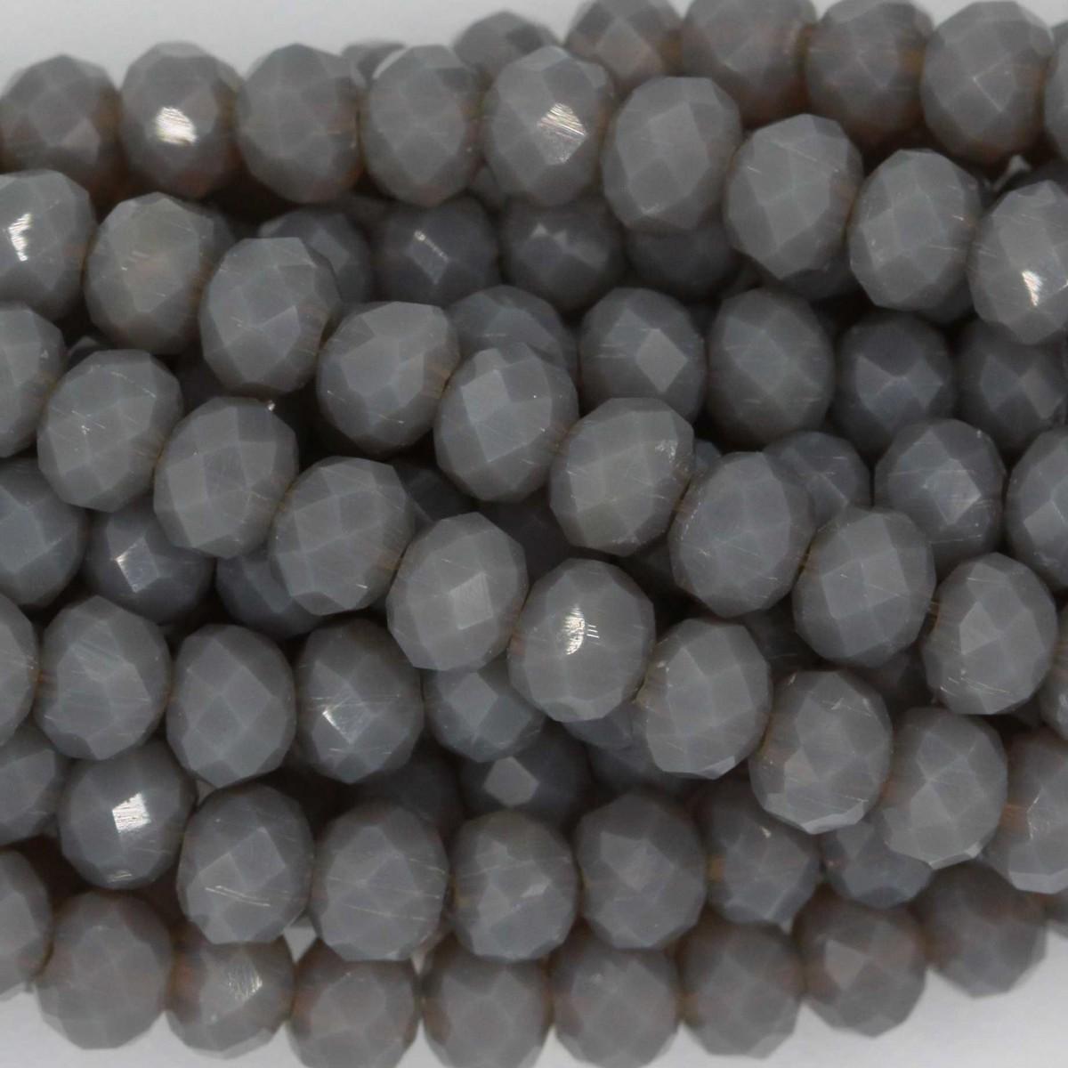 Rondelle in Cristallo Sfaccettato 4x3mm DOVE GREY OPAL