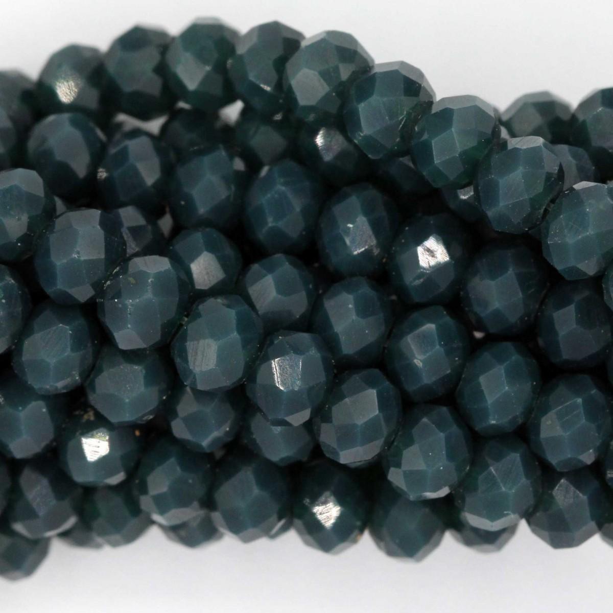 Rondelle in Cristallo Sfaccettato 4x3mm FULL BLUE