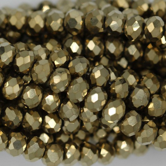 Rondelle in Cristallo Sfaccettato 4x3mm GOLD 2X