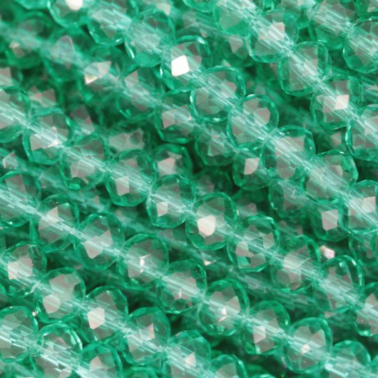 Rondelle in Cristallo Sfaccettato 4x3mm GREEN