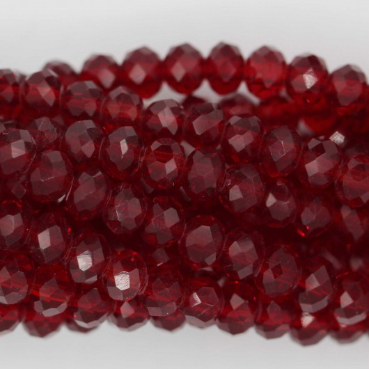 Fire Polished faceted flat round 4x3mm  LIGHT SIAM