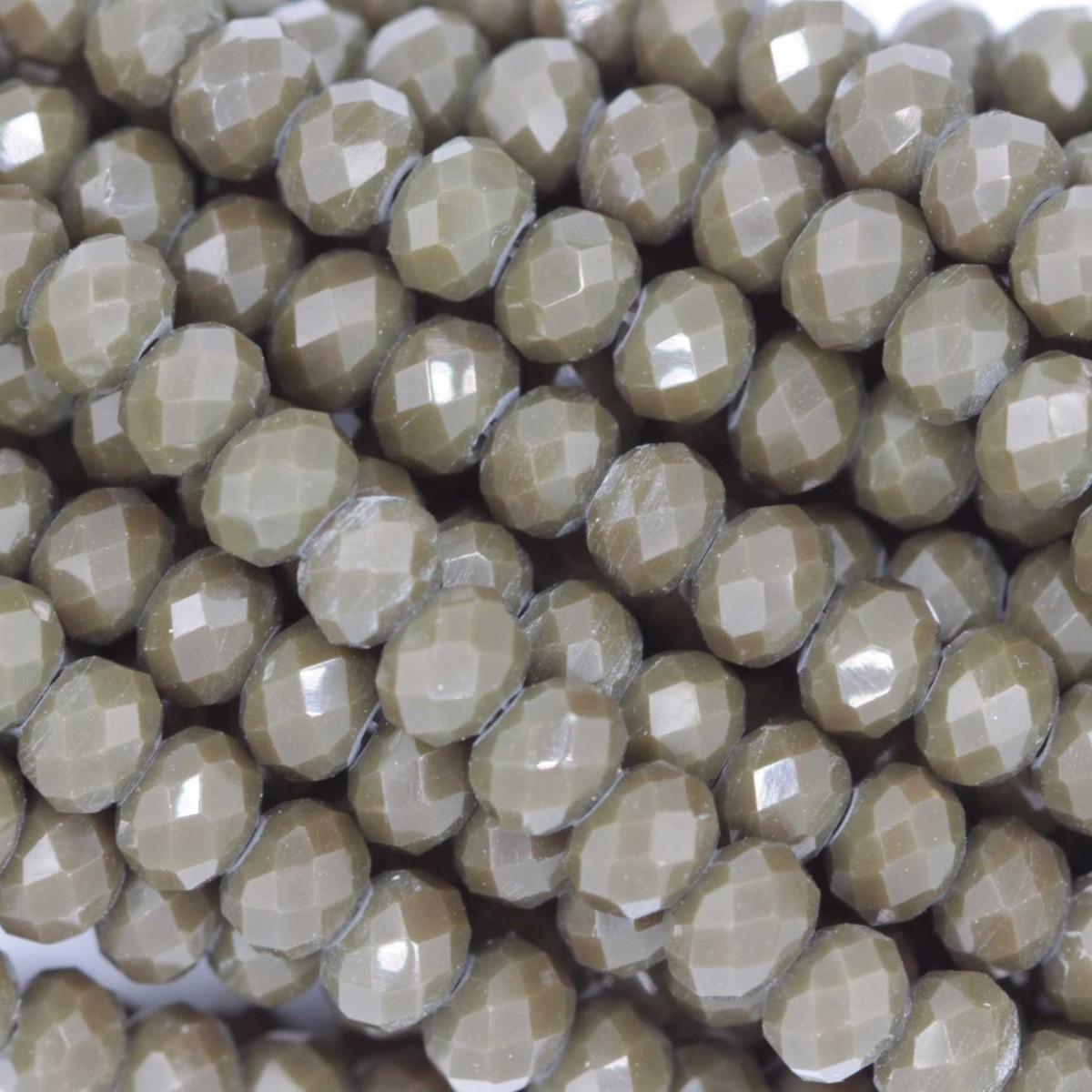 Rondelle in Cristallo Sfaccettato 4x3mm OPAL MUD