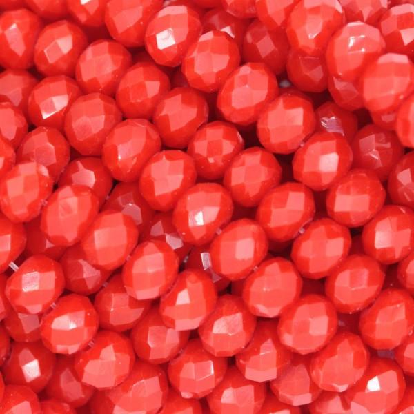 Rondelle in Cristallo Sfaccettato 4x3mm OPAL RED
