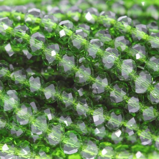 Rondelle in Cristallo Sfaccettato 4x3mm PERDOT