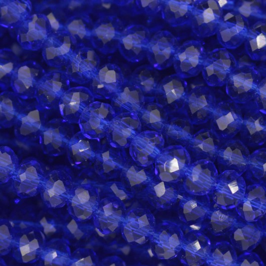 Rondelle in Cristallo Sfaccettato 4x3mm ROYAL BLUE
