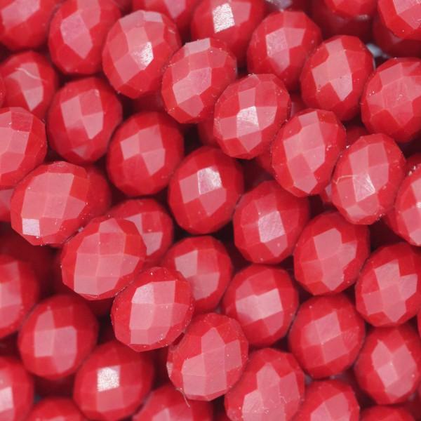 Rondelle in Cristallo Sfaccettato 6x4mm DARK RED OPAL