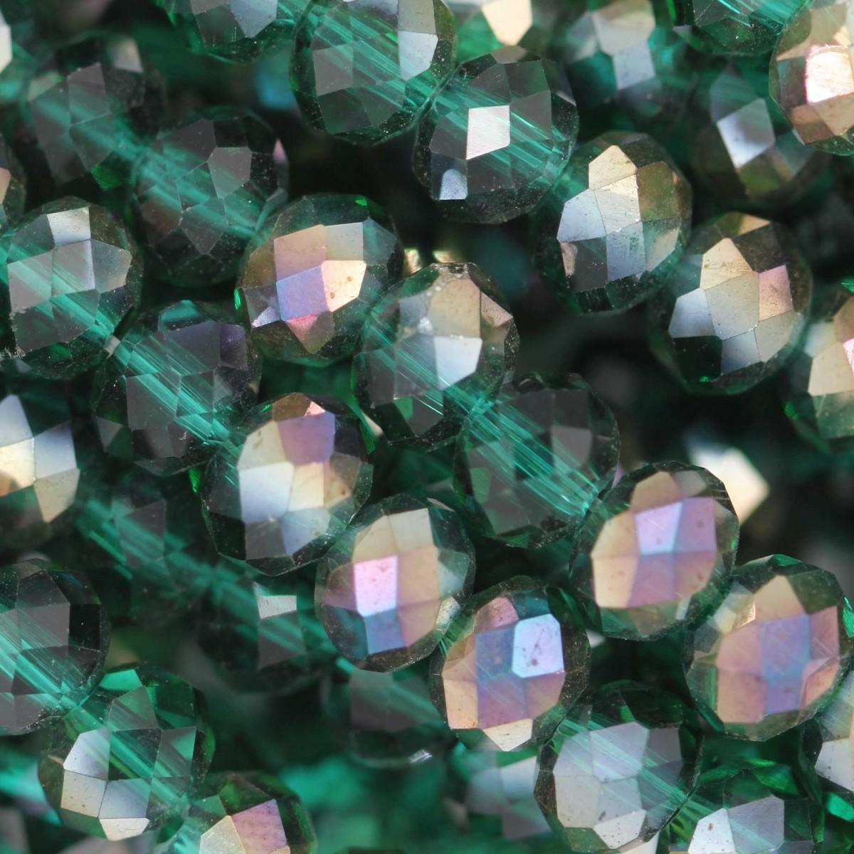 Rondelle in Cristallo Sfaccettato 6x4mm EMERAL AB