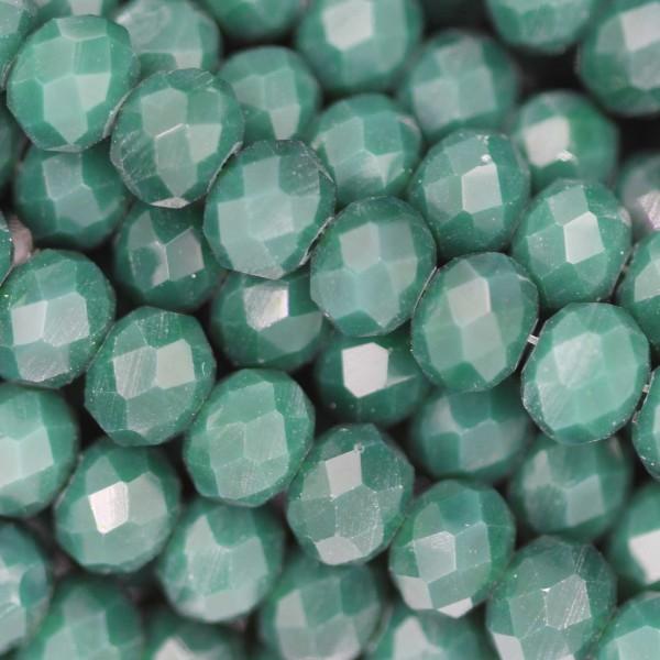 Rondelle in Cristallo Sfaccettato 6x4mm EMERALD OPAL