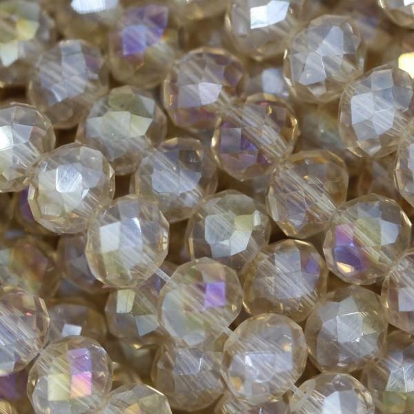 Rondelle in Cristallo Sfaccettato 6x4mm LIGHT TOPAZ AB