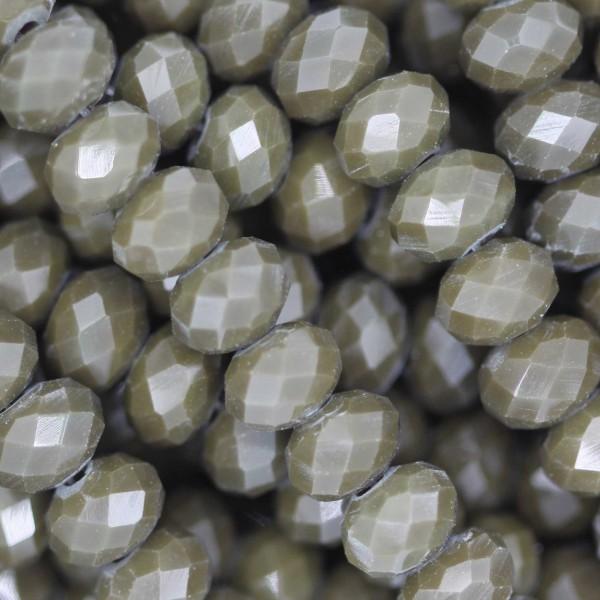 Rondelle in Cristallo Sfaccettato 6x4mm OLIVE OPAL