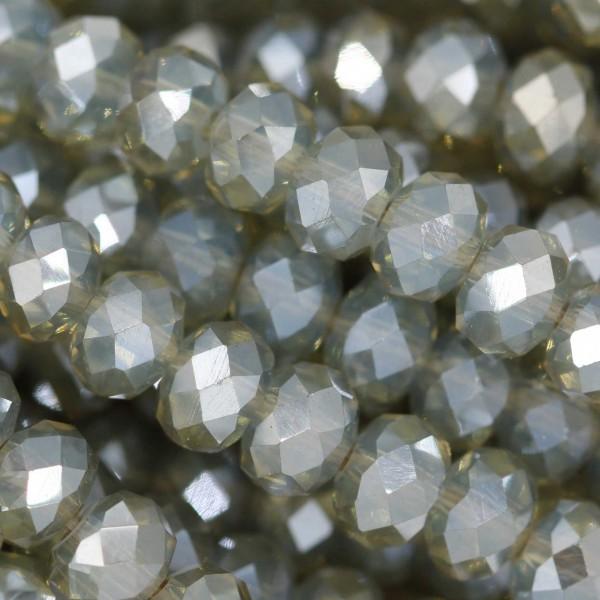Rondelle in Cristallo Sfaccettato 6x4mm OPAL FOG