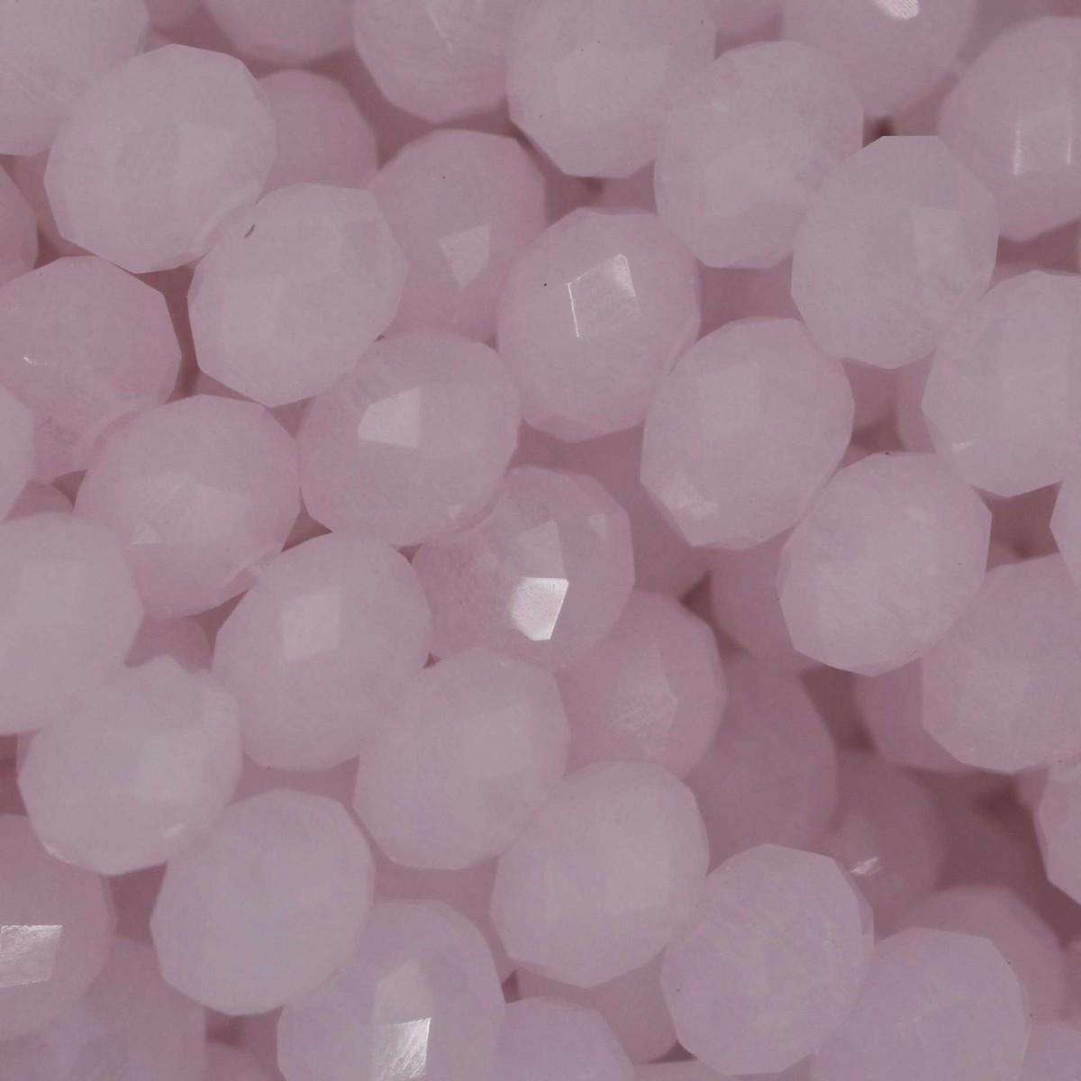 Rondelle in Cristallo Sfaccettato 6x4mm ROSE ALABASTER