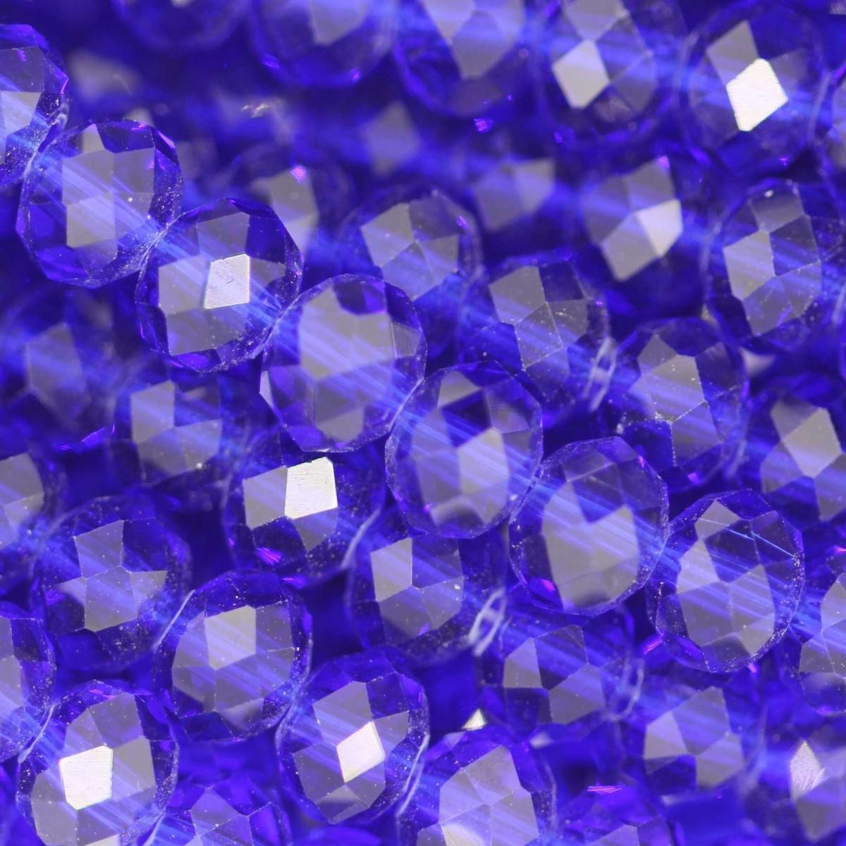 Rondelle in Cristallo Sfaccettato 6x4mm ROYAL BLUE