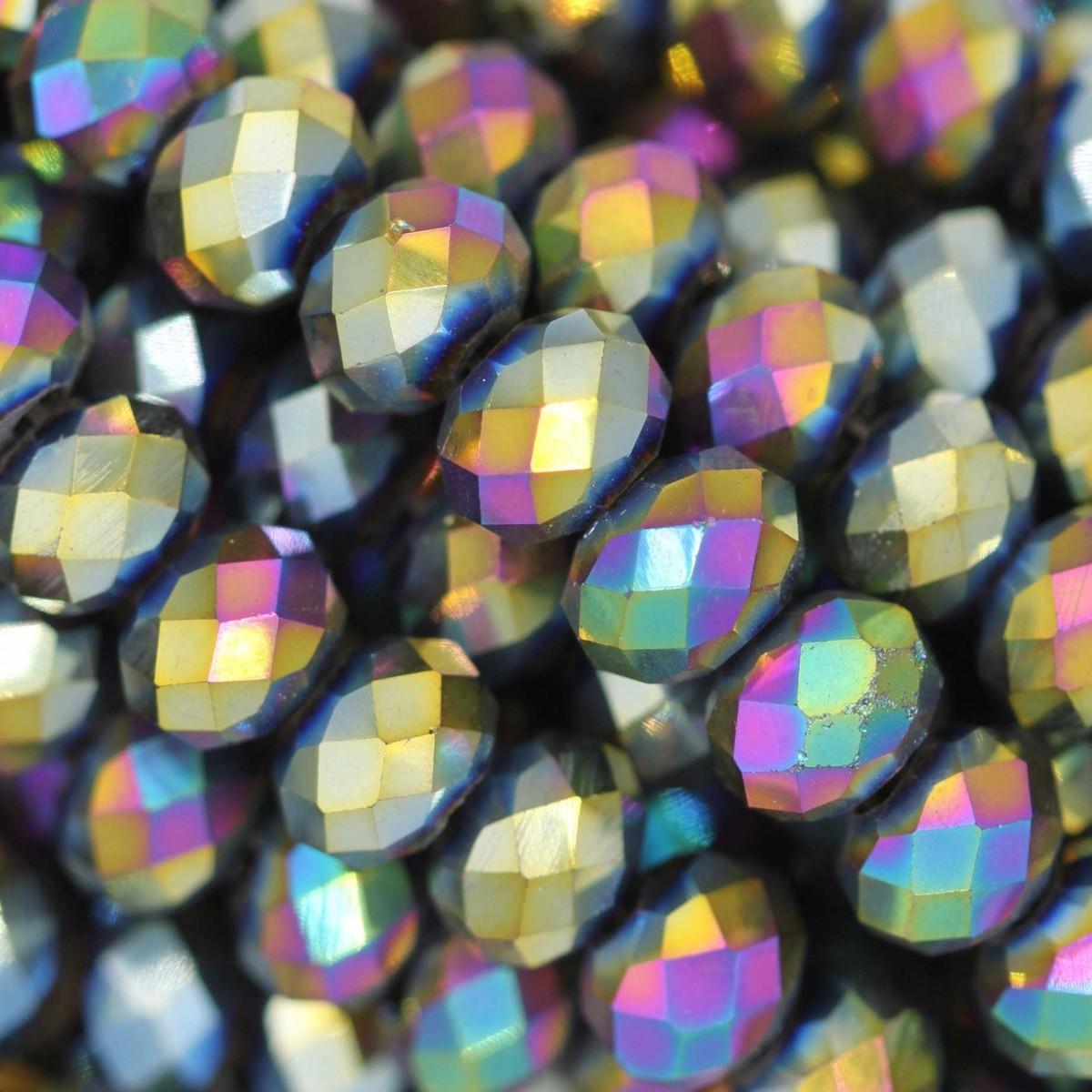 Rondelle in Cristallo Sfaccettato 6x4mm SCARABEUS
