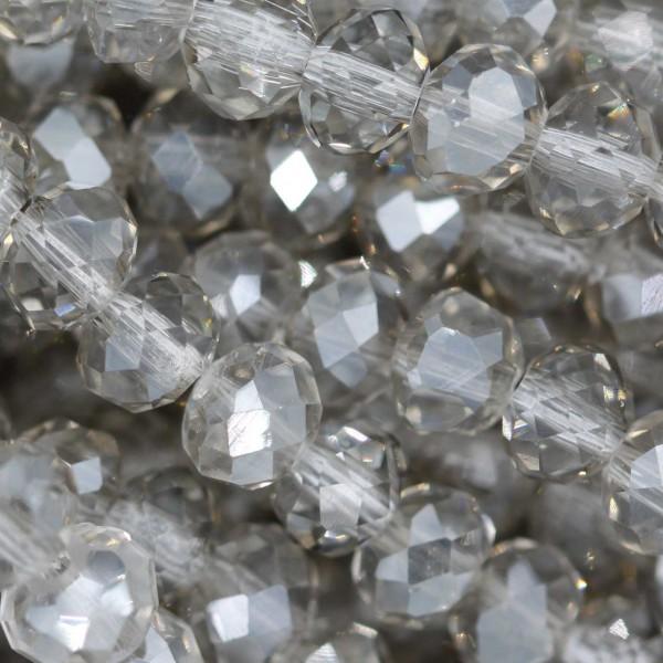 Rondelle in Cristallo Sfaccettato 6x4mm SILVER SHADE