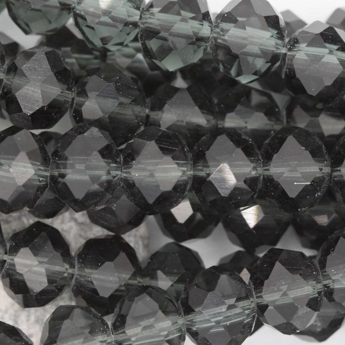 Rondelle in Cristallo Sfaccettato 8x6mm GREIGE