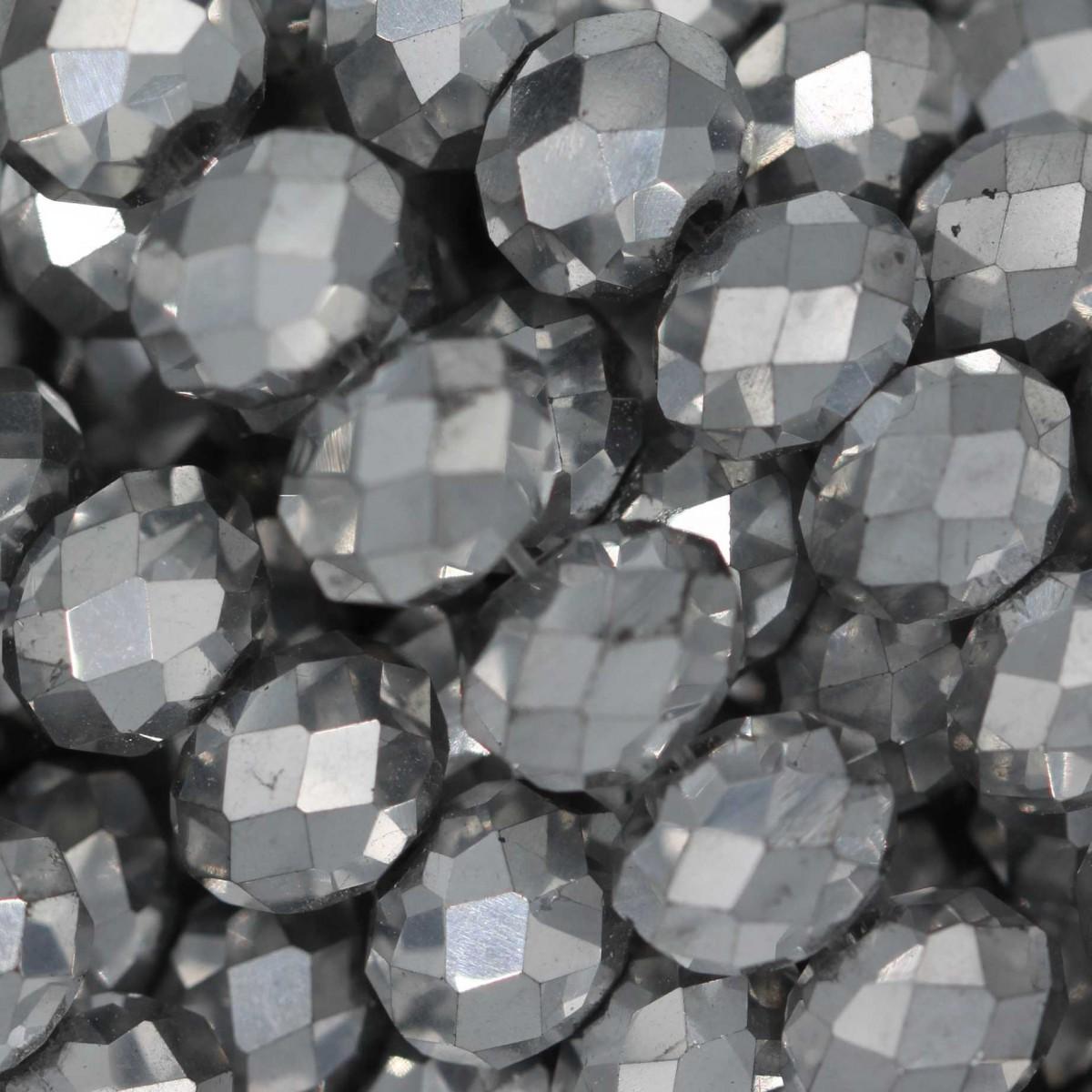 Rondelle in Cristallo Sfaccettato 8x6mm METAL 2X