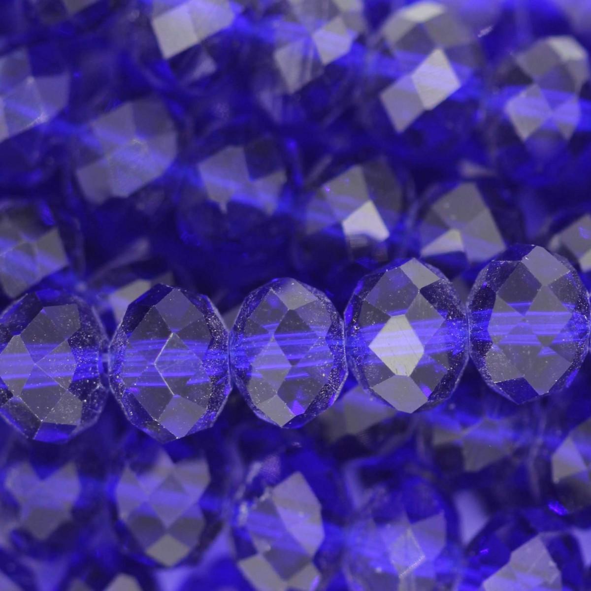 Rondelle in Cristallo Sfaccettato 8x6mm ROYAL BLUE