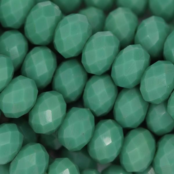 Rondelle in Cristallo Sfaccettato 8x6mm SAGE GREEN