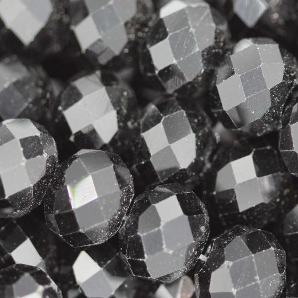 Rondelle in Cristallo Sfaccettato 10x8mm BLACK