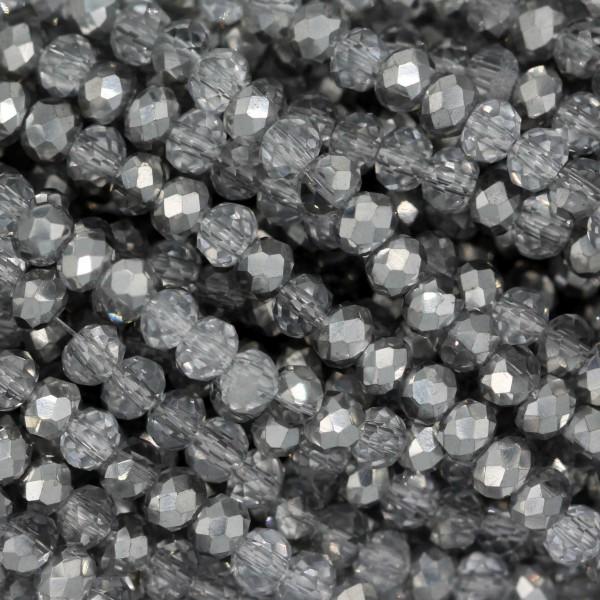 Rondelle in Cristallo Sfaccettato 3x2,5mm CAL