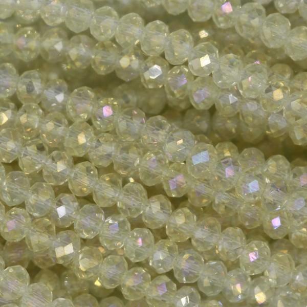 Rondelle in Cristallo Sfaccettato 3x2,5mm CITRINE AB