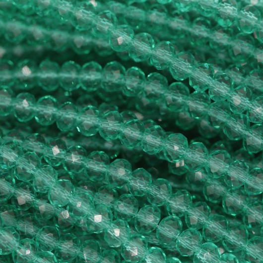 Rondelle in Cristallo Sfaccettato 3x2,5mm FERN GREEN