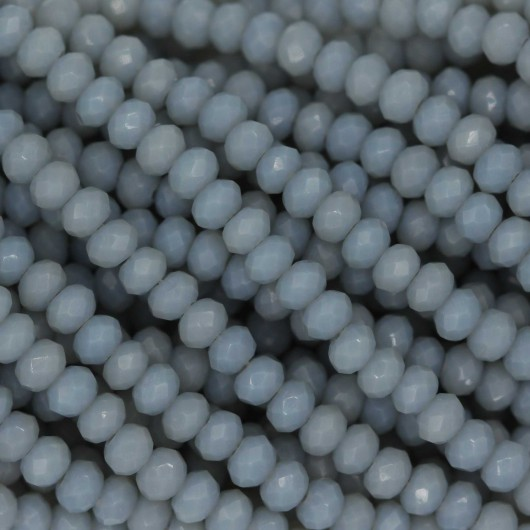 Rondelle in Cristallo Sfaccettato 3x2,5mm LIGHT GREY OPAL