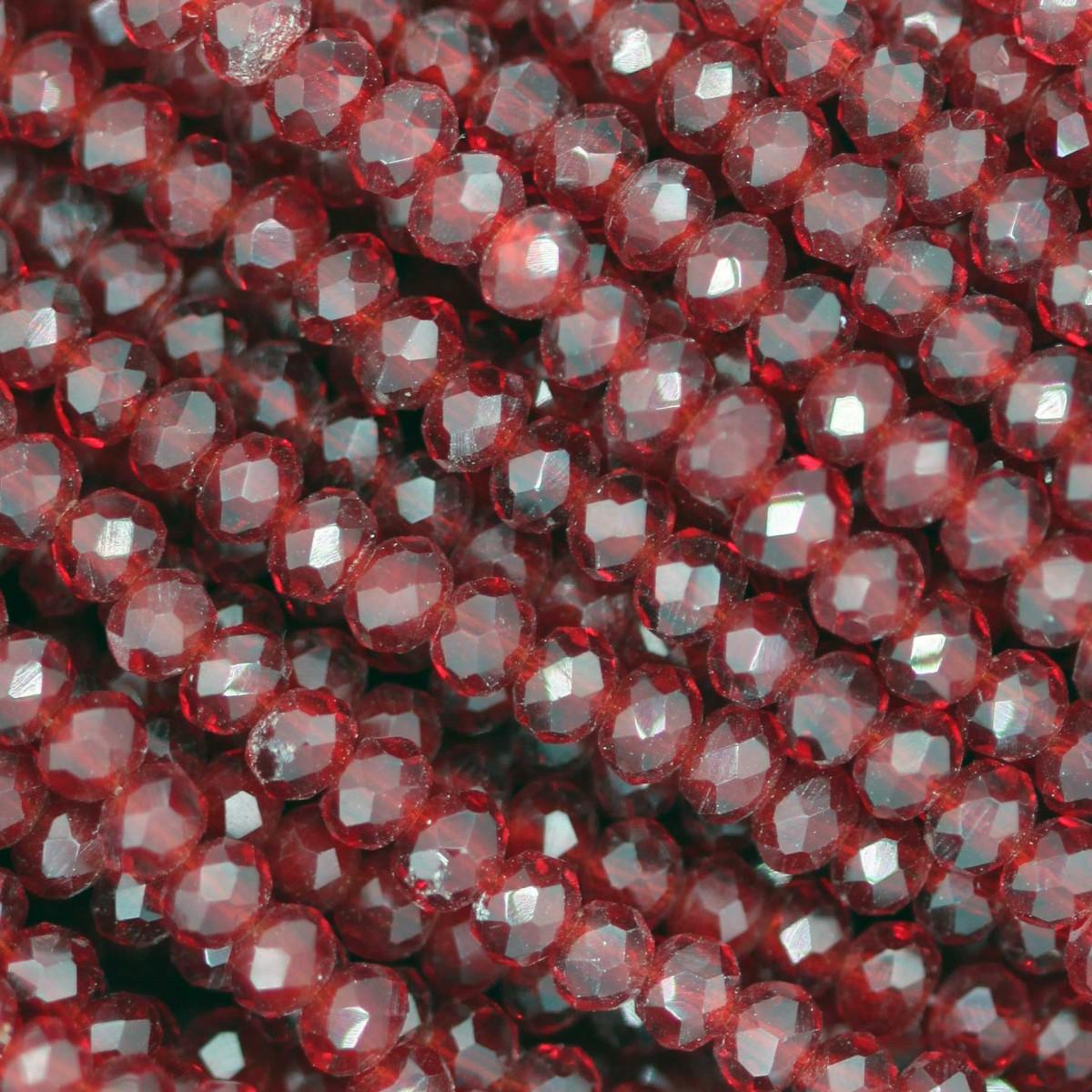 Rondelle in Cristallo Sfaccettato 3x2,5mm SIAM