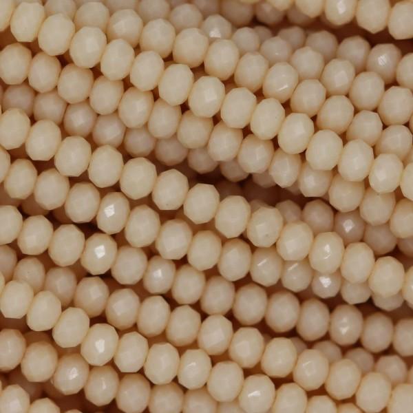 Rondelle in Cristallo Sfaccettato 3x2,5mm SILK OPAL